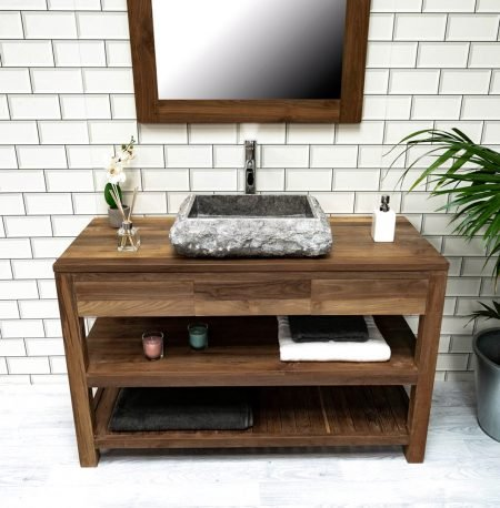 The 'Telu' Modern Reclaimed Teak Washstand - 3 Sizes Available.