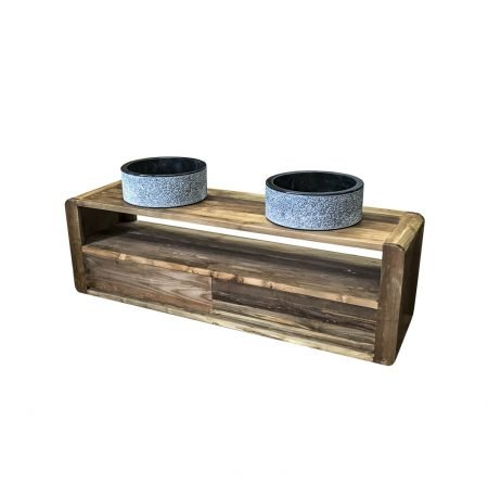 The 'Dasan' Wall Mounted Teak Washstand - 2 sizes available.