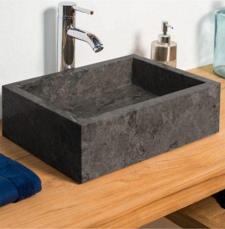 Polished Grey Marble Bowl Sink 35 x 15cm