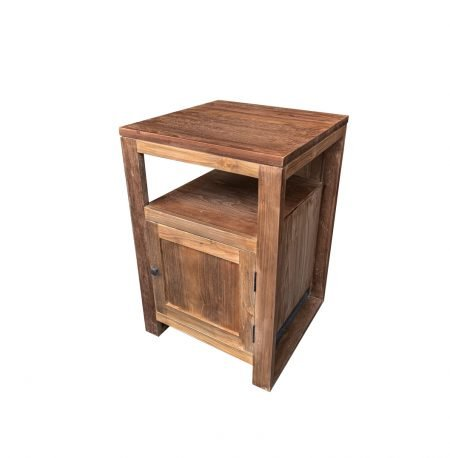 The 'Swela' Small Reclaimed Teak Washstand with 1 Cupboard
