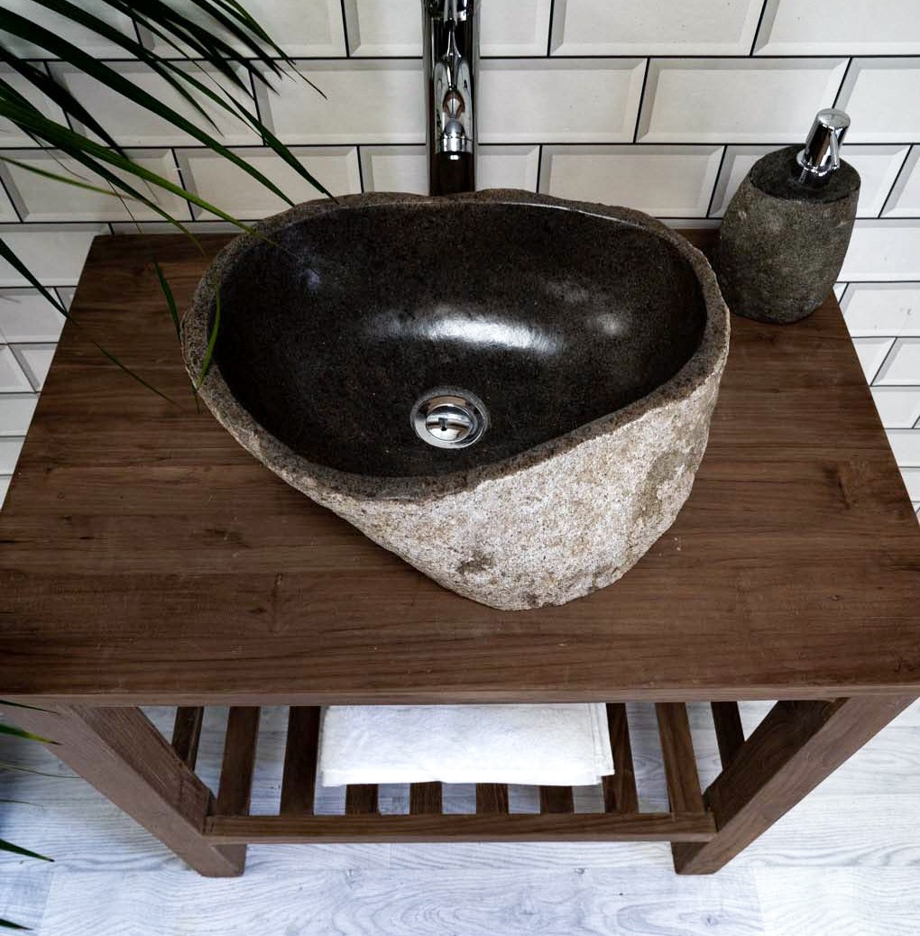 Natural Stone Basin No. 515. L- 43cm, W- 32cm, H- 15cm