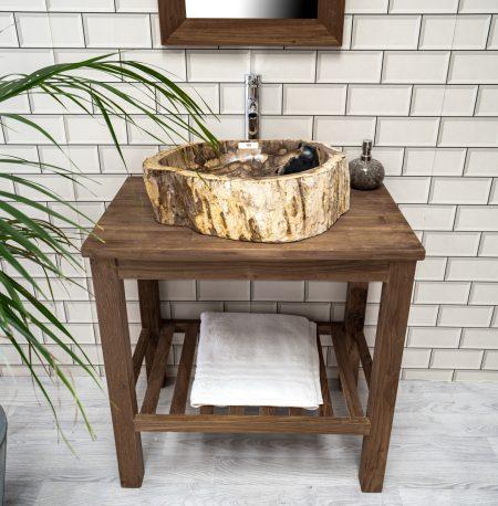 Petrified / Fossilised Wood Sink 105 - 52 x 42cm