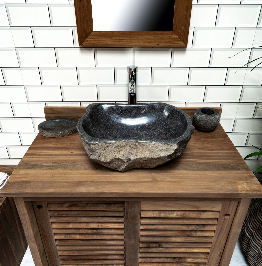 Natural Stone Basin No. 236. L- 45cm, W- 35cm, H- 15cm
